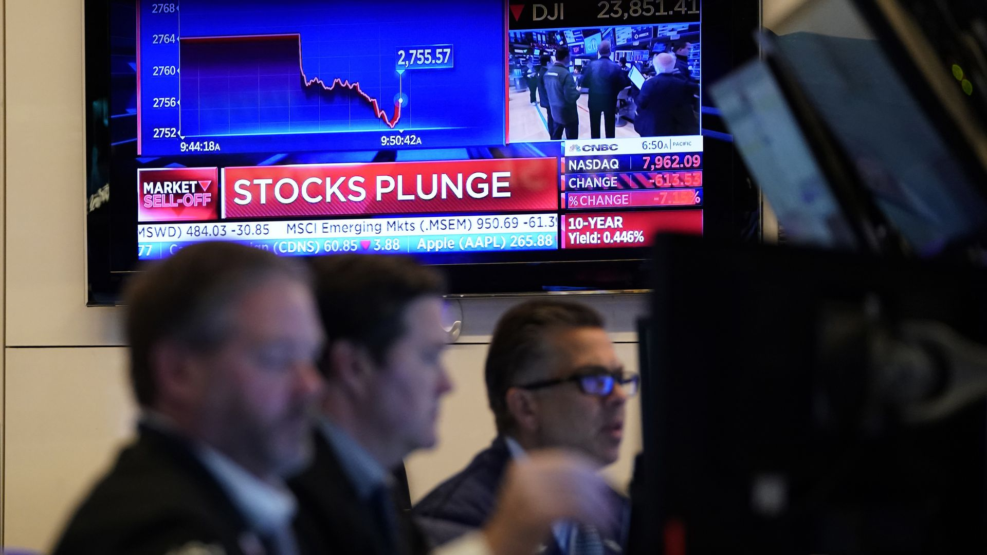Global stock markets plunged as growing fears of the coronavirus wreak havoc on the economy