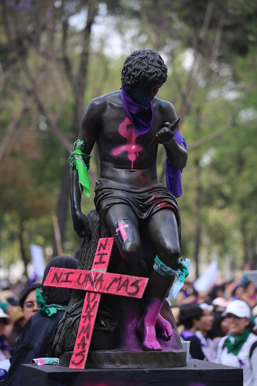Protest in Mexico against violence against women.