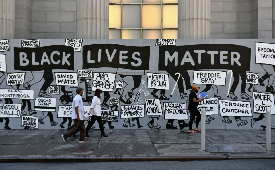 A Black Lives Matter mural in New York City.