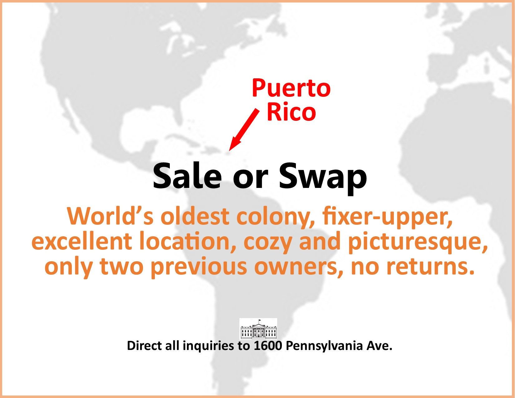 Image advertising Puerto Rico being for sale