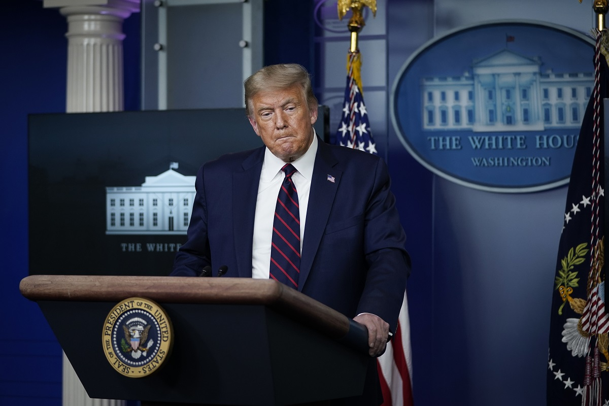 US President Donald Trump speaks during a news conference in the James Brady Press Briefing Room of the White House on August 4, 2020. Photo: Drew Angerer/AFP.