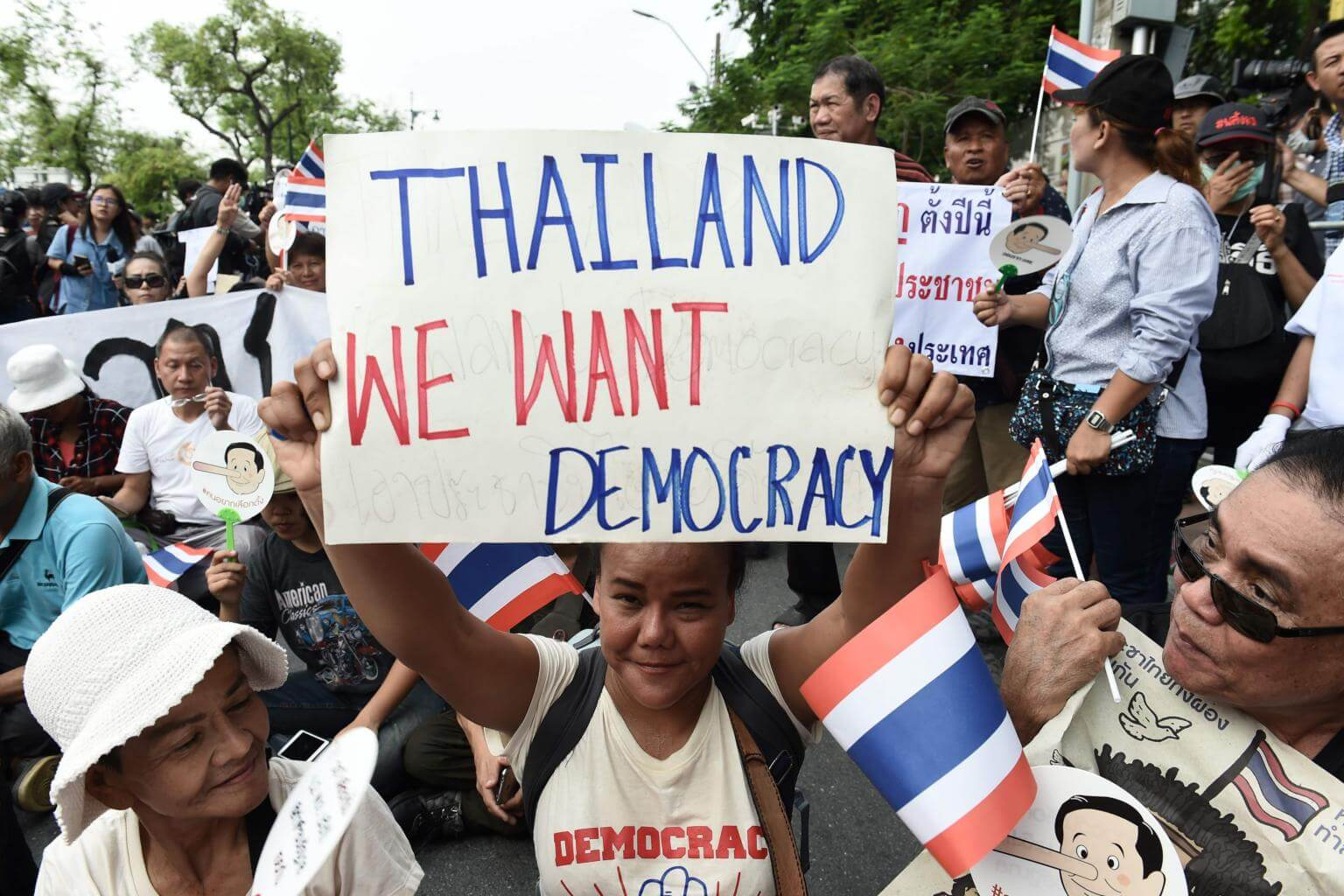 Image result for thailand democracy protest