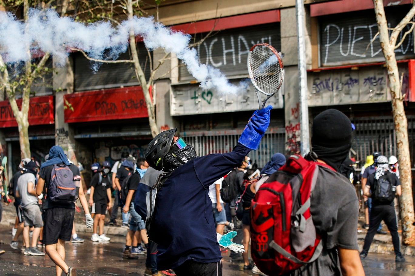 A riot in Santiago