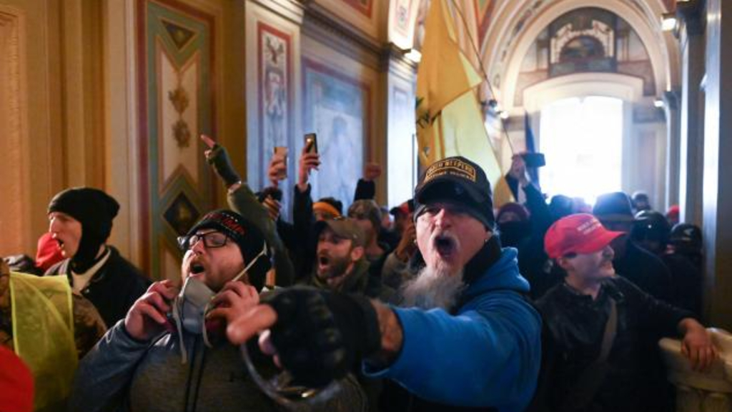 Demonstrators breached security and entered the US Capitol