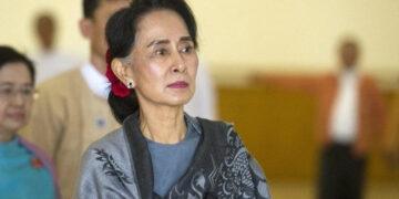 Myanmar's democratically elected leader Aung San Suu Kyi.